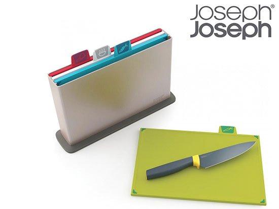 joseph joseph index schneidebrett set mit 4 brettchen und kochmesser f r 40 90 inkl versand. Black Bedroom Furniture Sets. Home Design Ideas