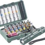Metabo 29-tlg. Bit-Box mit Farbcodierung und LED-Taschenlampe für nur 11,00€