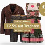Engelhorn: 12,5% Rabatt auf Trachten + 5€ Gutschein