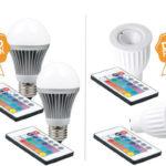 2 x XQ-Lite RGB LED (GU10 oder E27) + Fernbedienung für 23,90€ inkl. Versand