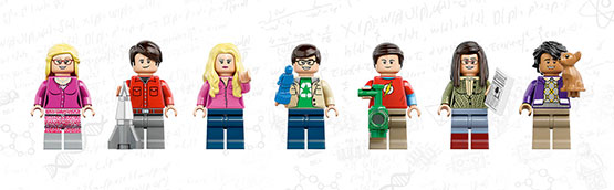 lego the big bang theory penny sheldon serie fan
