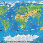 Kinder Weltkarte XXXL (1,95m) für 11,75€ inkl. Versand – laminiert, beschreib- & abwaschbar
