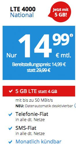 Angebot Deal Handyvertrag
