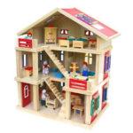 Puppenhaus + Möbel + Puppenfamilie für 59,95€ inkl. Versand