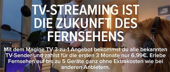 Streaming TV Fernsehen