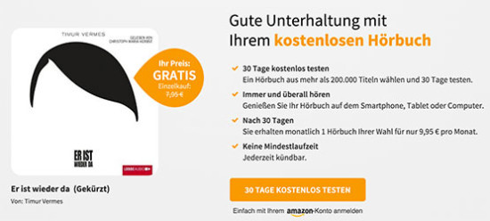 hörbuch audible angebot günstig deal gratis testen