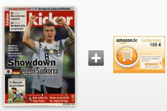 Zeitung Kicker günstig schnäppchen aktion
