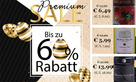 Weinvorteil Sale Premium Angebot Deal Weinflasche sparen