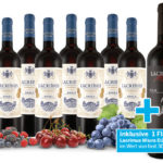 8 Flaschen Rodriguez Rioja Lacrimus Vendimia Seleccionada D.O.C. Rotwein + 1 Flasche Superpremium Rioja Lacrimus Miura D.O.C für 49,00€ inkl. Versand statt 131,82€