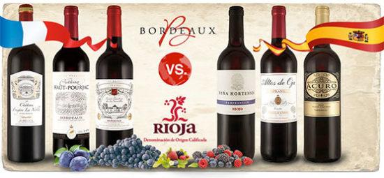 Rotwein probieren Angebot günstig Rioja Bordeaux Frankreich Spanien
