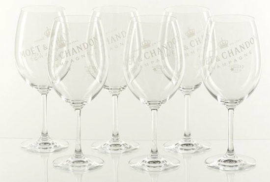 Champagner Moët Chandon Ice Imperial Echtglas angebot