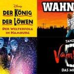 Aktuelle Musicalreisen mit Übernachtung & Frühstück ab 67,00€ – z.B. Aladdin, König der Löwen, Bodyguard u.s.w