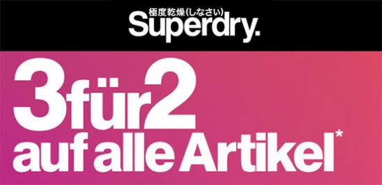 Superdry Kleidung Angebot Aktion Gutschein