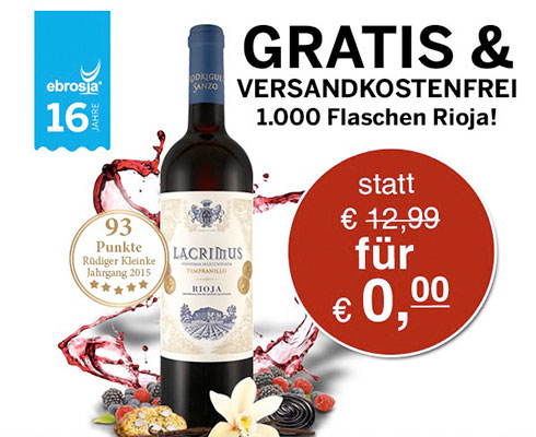 Ebrosia Rotwein Angebot Deal
