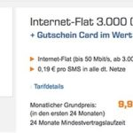 Telekom 3GB LTE Internet-Flat + 180€ Saturn Gutschein für 9,99€ monatlich