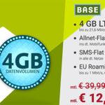 BASE All-in L: Allnet- und SMS-Flat mit 4GB LTE-Flat + 1GB EU-Flat für 12,99€ mtl.