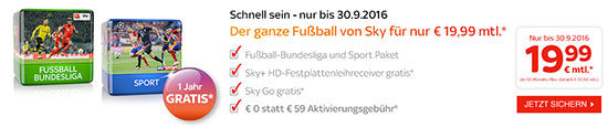 Sky Angebot Sport Bundesliga