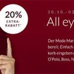 engelhorn: 20% auf Markenkleidung (Hilfiger, Boss, GANT u.v.m.) + 5€ Gutschein