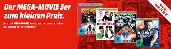 3 für 2 Filme Bluray DVD Angebot Deal
