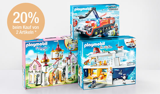 galeria kaufhof 20 rabatt auf playmobil beim kauf von 2. Black Bedroom Furniture Sets. Home Design Ideas