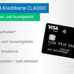 Schwarze VISA-Kreditkarte ohne Jahresgebühr + 40€ Prämie