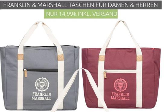 franklin marshall shopper f r 14 99 inkl versand schn ppchen. Black Bedroom Furniture Sets. Home Design Ideas