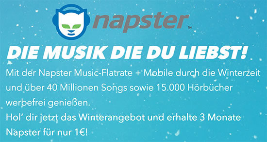 Napster Testen Angebot Deal