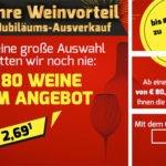 Weinvorteil: Jubiläums-Angebote mit bis zu 70% Rabatt – Weine ab 2,69€/Flasche + kostenloser Versand ab 80€
