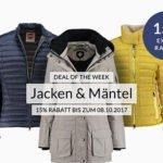 engelhorn: 15% Rabatt auf Jacken & Mäntel