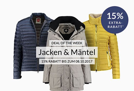Angebot Deal Rabatt Sale Kleidung Mäntel