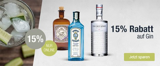 GIn Rabatt Genever Tonic Gin Angebot Deal