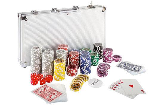 Poker Kartenspiel Koffer Chips
