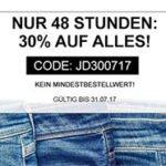 Jeans Direct: 30% Rabatt auf alles, auch auf bereits reduzierte Sale-Artikel