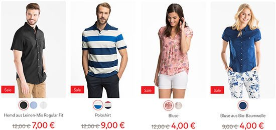 Sale Rabatt Sommerschlussverkauf C&A Schnäppchen Kleidung