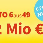Lottohelden: 6 Felder Lotto 6aus49 für 1,00€ anstatt 6,00€ (32.000.000€ im Jackpot) *Zwangsausschüttung*