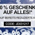 Jeans Direct: 20% Rabatt auf alles, auch auf bereits reduzierte Sale-Artikel