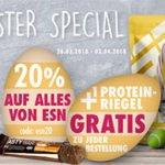 Fitmart: 20% Rabatt auf alle ESN-Produkte (z.B. 1kg ESN Designer Whey-Protein ab 15,12€)
