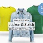 engelhorn: 10% Rabatt auf Jacken & Strick