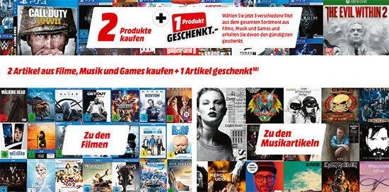 MediaMarkt Aktion Games Konsole Spiele Filme Musik DVDS Blurays