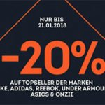 Sportscheck: 20% Rabatt auf Topseller von adidas, Asics, Nike, Onzie, Reebok & Under Armour