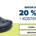 Crocs: 20% Rabatt auf ausgewählte Modelle + 30% Extra-Rabatt + kostenlose Lieferung