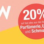Galeria Kaufhof: 20% Rabatt auf Parfüme, Uhren & Schmuck