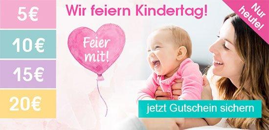 Gutschein Babymarkt Kindertag Babykleidung Schnäppchen Babyausstattung