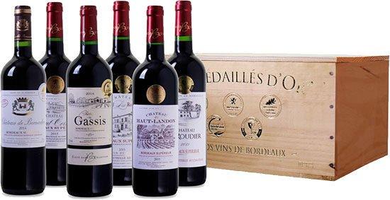 Angebot Wein Bordeaux Frankreich Deal Holzkiste