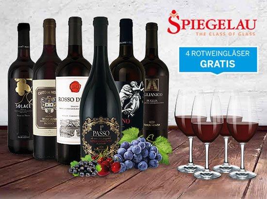 Rotweine Italien Spiegelau Geschenkset angebot deal