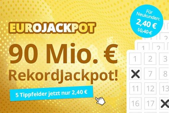 Lotterie Eurojackpot Angebot Deal Sparen