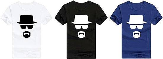 T-Shirt heisenberg breaking bad serie fanartikel