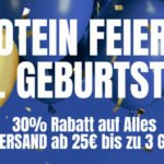 MyProtein: 30% Rabatt auf alles & kostenloser Versand ab 25€ & bis zu 3 Geschenke