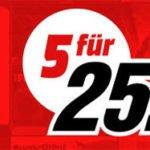 MediaMarkt: 5 Blurays für 25,00€ inkl. Versand