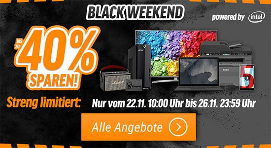 Notebooksbilliger Black Weekend Aktion Angebot Rabatte